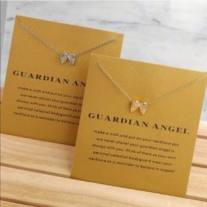 Jewelry - Guardian Angel Gold Chain Necklace Dainty Wings